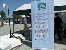 Village associatif en bord de Garonne